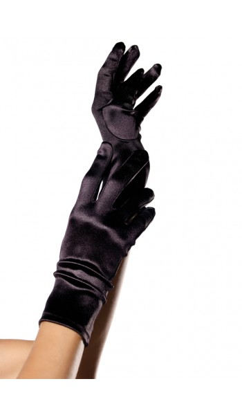 Black Wrist Length Satin Gloves at Stripper Plus Clubwear, Stripper Clothes, Exotic Dancewear, Sexy Club Wear, Extreme Platform Shoes