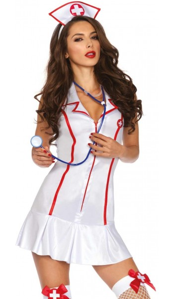 Attractive Nurse Adult Womens Costume at Stripper Plus Clubwear, Stripper Clothes, Exotic Dancewear, Sexy Club Wear, Extreme Platform Shoes