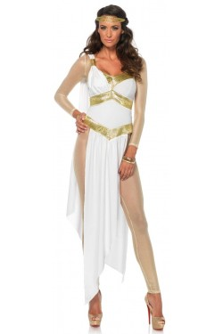 Golden Greek Goddess Womens Costume Stripper Plus Clubwear Stripper Clothes, Exotic Dancewear, Sexy Club Wear, Extreme Platform Shoes