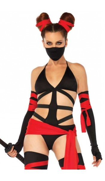 Killer Ninja Sexy Adult Womens Costume at Stripper Plus Clubwear, Stripper Clothes, Exotic Dancewear, Sexy Club Wear, Extreme Platform Shoes