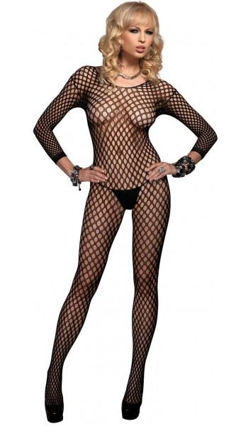 Ringo Net Long Sleeved Bodystocking at Stripper Plus Clubwear, Stripper Clothes, Exotic Dancewear, Sexy Club Wear, Extreme Platform Shoes