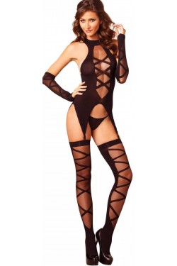Camigarter Faux Lace Up 3 Piece Set Stripper Plus Clubwear Stripper Clothes, Exotic Dancewear, Sexy Club Wear, Extreme Platform Shoes
