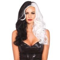 Cruella 2 Tone Long Costume Wig