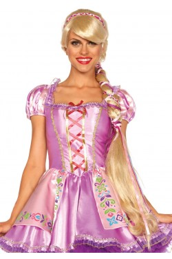 Repunzel Extra Long Blonde Costume Wig Stripper Plus Clubwear Stripper Clothes, Exotic Dancewear, Sexy Club Wear, Extreme Platform Shoes