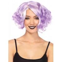 Lavender Curly Bob Short Wig