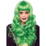 Misfit Mayhem Long Green Wavy Wig at Stripper Plus Clubwear, Stripper Clothes, High Heels, Dance Costumes, Sexy Club Wear