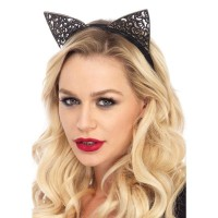 Filigree Glitter Kitty Cat Ears