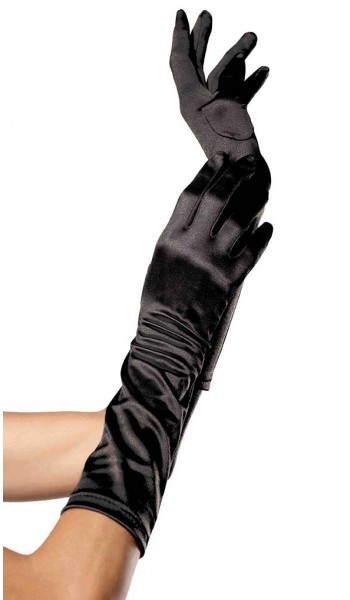 Black Satin Elbow Length Gloves at Stripper Plus Clubwear, Stripper Clothes, Exotic Dancewear, Sexy Club Wear, Extreme Platform Shoes