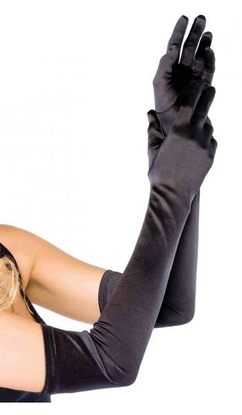 Satin Extra Long Black Opera Gloves at Stripper Plus Clubwear, Stripper Clothes, Exotic Dancewear, Sexy Club Wear, Extreme Platform Shoes