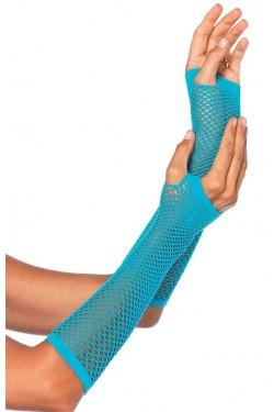 Neon Blue Triangle Net Fingerless Gloves Stripper Plus Clubwear Stripper Clothes, Exotic Dancewear, Sexy Club Wear, Extreme Platform Shoes