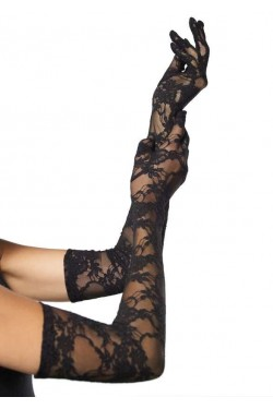 Elegant Black Lace Opera Gloves Stripper Plus Clubwear Stripper Clothes, Exotic Dancewear, Sexy Club Wear, Extreme Platform Shoes