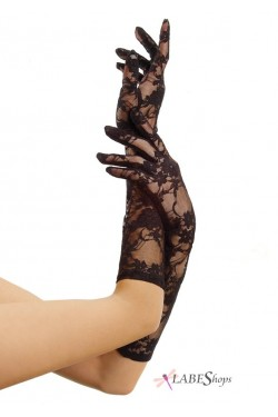 Black Elbow Length Lace Gloves Stripper Plus Clubwear Stripper Clothes, Exotic Dancewear, Sexy Club Wear, Extreme Platform Shoes