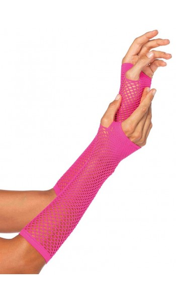 Neon Pink Triangle Net Fingerless Gloves at Stripper Plus Clubwear, Stripper Clothes, Exotic Dancewear, Sexy Club Wear, Extreme Platform Shoes