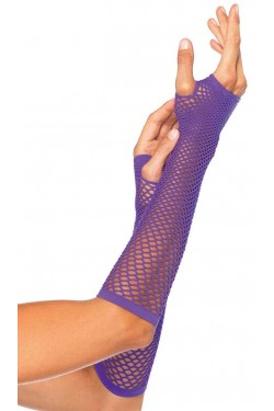 Neon Purple Triangle Net Fingerless Gloves Stripper Plus Clubwear Stripper Clothes, Exotic Dancewear, Sexy Club Wear, Extreme Platform Shoes