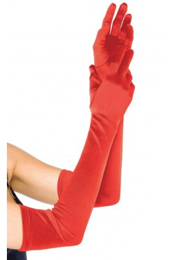 Red Satin Extra Long Opera Gloves Stripper Plus Clubwear Stripper Clothes, Exotic Dancewear, Sexy Club Wear, Extreme Platform Shoes
