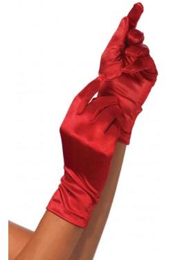 Red Wrist Length Satin Gloves Stripper Plus Clubwear Stripper Clothes, Exotic Dancewear, Sexy Club Wear, Extreme Platform Shoes