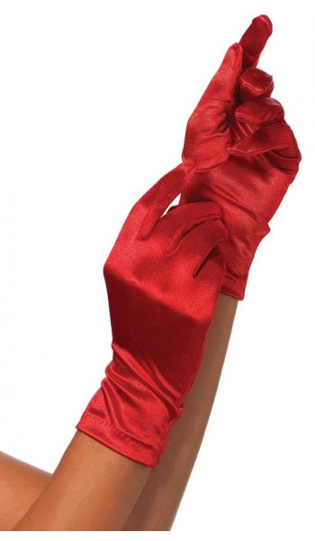 Red Wrist Length Satin Gloves at Stripper Plus Clubwear, Stripper Clothes, Exotic Dancewear, Sexy Club Wear, Extreme Platform Shoes