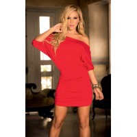 Red Hot One Shoulder Date Dress