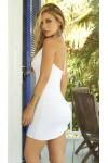 White Summer Vibes Plunge Dress at Stripper Plus Clubwear, Stripper Clothes, Exotic Dancewear, Sexy Club Wear, Extreme Platform Shoes