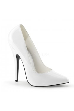 Classic White 6 Inch High Heel Pump Stripper Plus Clubwear Stripper Clothes, Exotic Dancewear, Sexy Club Wear, Extreme Platform Shoes