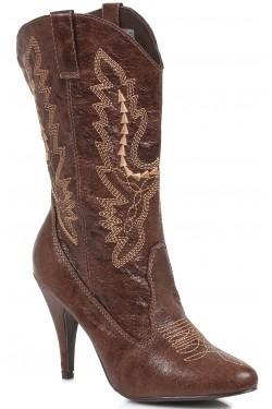 Brown Scrolled Cowgirl Boots Stripper Plus Clubwear Stripper Clothes, Exotic Dancewear, Sexy Club Wear, Extreme Platform Shoes