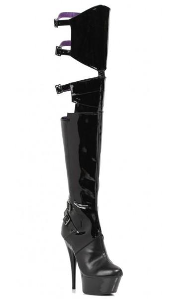 Felicia 6 Inch Heel Thigh High Platform Boot at Stripper Plus Clubwear, Stripper Clothes, Exotic Dancewear, Sexy Club Wear, Extreme Platform Shoes