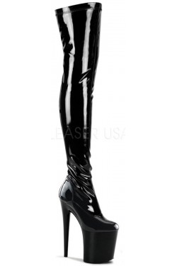 Flamingo 8 Inch Heel Thigh High Platform Boot Stripper Plus Clubwear Stripper Clothes, Exotic Dancewear, Sexy Club Wear, Extreme Platform Shoes