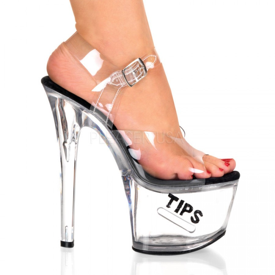 4ebacb0c44b8 Tips Clear Platform Stripper Sandal …