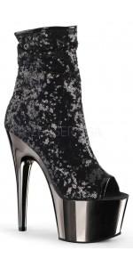 Black Sequin Adore Platform Ankle Boots