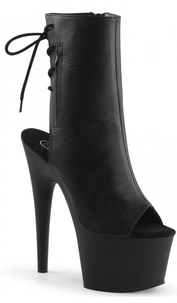 Black Peep Toe and Heel Platform Ankle Boot at Stripper Plus Clubwear, Stripper Clothes, Exotic Dancewear, Sexy Club Wear, Extreme Platform Shoes
