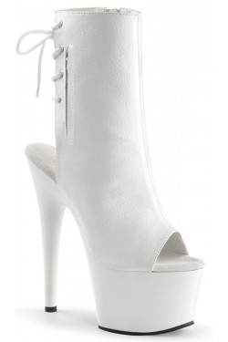 White Peep Toe and Heel Platform Ankle Boot Stripper Plus Clubwear Stripper Clothes, Exotic Dancewear, Sexy Club Wear, Extreme Platform Shoes