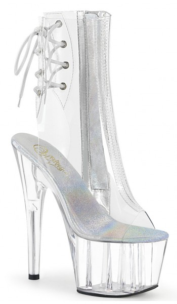 Clear Platform Adore Ankle Boot at Stripper Plus Clubwear, Stripper Clothes, Exotic Dancewear, Sexy Club Wear, Extreme Platform Shoes