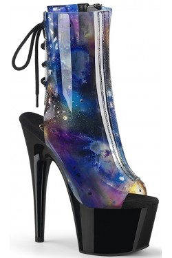 Cosmos Black Platform Ankle Boot Stripper Plus Clubwear Stripper Clothes, Exotic Dancewear, Sexy Club Wear, Extreme Platform Shoes