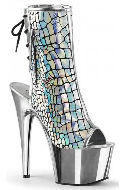 Hologram Chrome Platform Ankle Boot