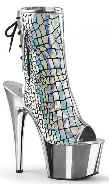 Hologram Chrome Platform Ankle Boot at Stripper Plus Clubwear, Stripper Clothes, Exotic Dancewear, Sexy Club Wear, Extreme Platform Shoes
