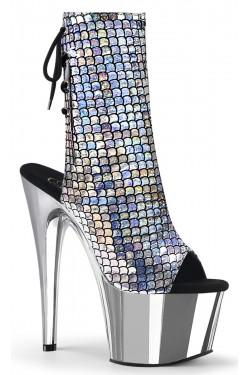 Mermaid Silver Hologram Ankle Boot