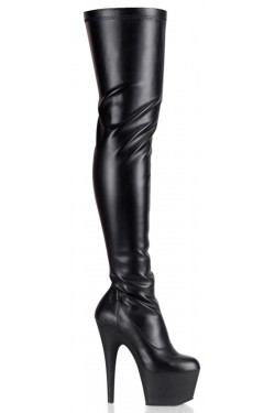 Adore Black Matte Thigh High Platform Boot Stripper Plus Clubwear Stripper Clothes, Exotic Dancewear, Sexy Club Wear, Extreme Platform Shoes