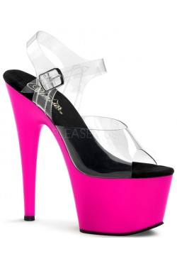 Neon Pink Platform Adore High Heel Sandals Stripper Plus Clubwear Stripper Clothes, Exotic Dancewear, Sexy Club Wear, Extreme Platform Shoes