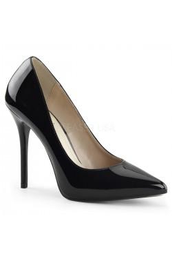 Amuse Black Patent 5 Inch High Heel Pump Stripper Plus Clubwear Stripper Clothes, Exotic Dancewear, Sexy Club Wear, Extreme Platform Shoes
