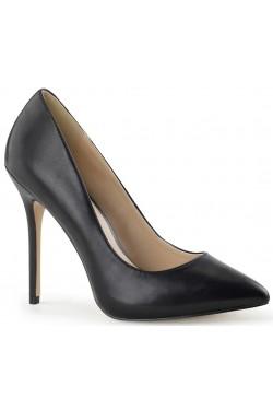 Amuse Black Faux Leather 5 Inch High Heel Pump Stripper Plus Clubwear Stripper Clothes, Exotic Dancewear, Sexy Club Wear, Extreme Platform Shoes