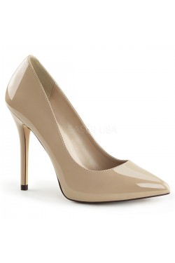 Amuse Cream 5 Inch High Heel Pump Stripper Plus Clubwear Stripper Clothes, Exotic Dancewear, Sexy Club Wear, Extreme Platform Shoes