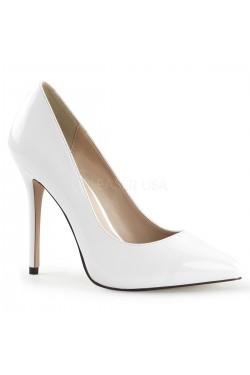 Amuse White 5 Inch High Heel Pump Stripper Plus Clubwear Stripper Clothes, Exotic Dancewear, Sexy Club Wear, Extreme Platform Shoes