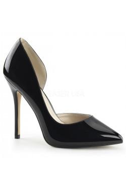 Amuse Black 5 Inch High Open Side Pump Stripper Plus Clubwear Stripper Clothes, Exotic Dancewear, Sexy Club Wear, Extreme Platform Shoes