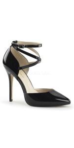 Dorsey Criss Cross Ankle Strap Black Amuse Pump