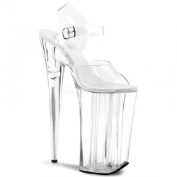 Beyond Extreme Clear 10 Inch High Sandal Stripper Plus Clubwear Stripper Clothes, High Heels, Dance Costumes, Sexy Club Wear