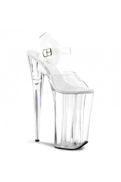 Beyond Extreme Clear 10 Inch High Sandal Stripper Plus Clubwear Stripper Clothes, Exotic Dancewear, Sexy Club Wear, Extreme Platform Shoes