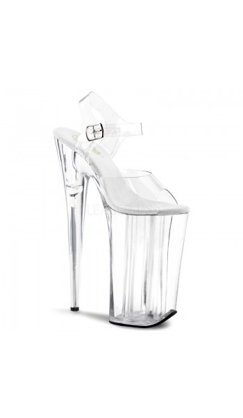 Beyond Extreme Clear 10 Inch High Sandal at Stripper Plus Clubwear, Stripper Clothes, Exotic Dancewear, Sexy Club Wear, Extreme Platform Shoes