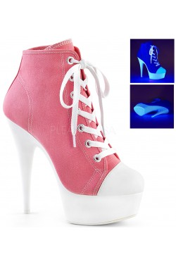 Pink and White High Heel Platform Sneaker Stripper Plus Clubwear Stripper Clothes, Exotic Dancewear, Sexy Club Wear, Extreme Platform Shoes