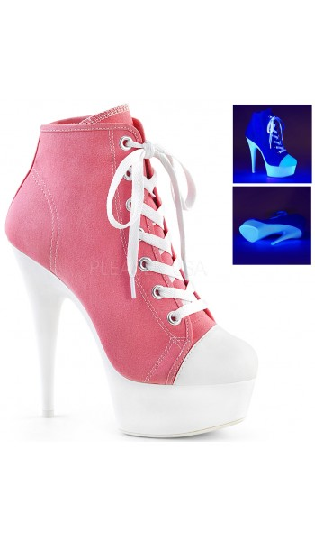 Pink and White High Heel Platform Sneaker at Stripper Plus Clubwear, Stripper Clothes, Exotic Dancewear, Sexy Club Wear, Extreme Platform Shoes