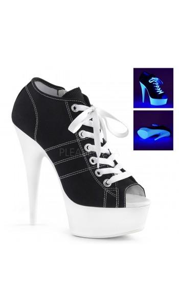 Black High Heel Peep Toe Sneaker at Stripper Plus Clubwear, Stripper Clothes, Exotic Dancewear, Sexy Club Wear, Extreme Platform Shoes